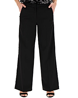 Black Wide Leg Tuxedo Trousers