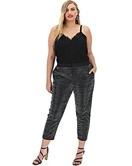 Glitter Lurex Tapered Trouser