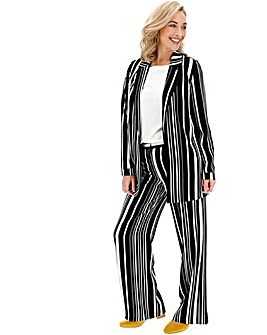 Mono Stripe Wide Leg Trousers