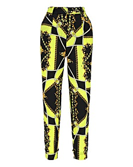 Scarf Print Tapered Trousers