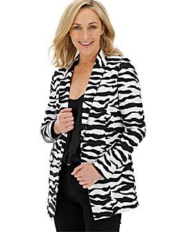 Zebra Mono Print Blazer