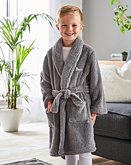Personalised Children's Cuddle Fleece Dressing Gown