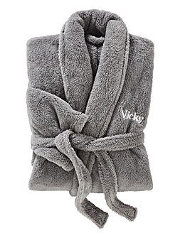 Personalised Ladies Cuddle Fleece Robe