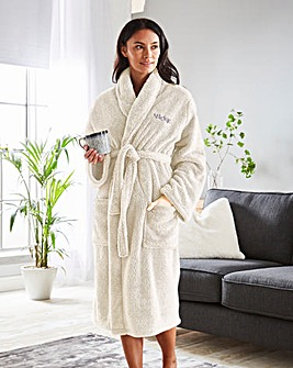 Personalised Ladies Cuddle Fleece Robe