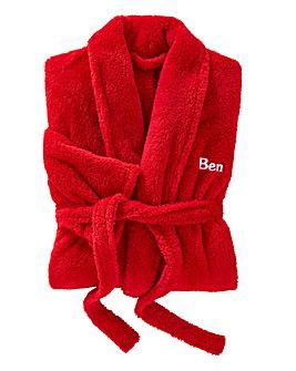 Personalised Men's Cuddle Fleece Robe