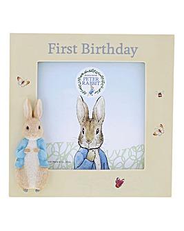 Peter Rabbit 1st Birthday Photo Frame