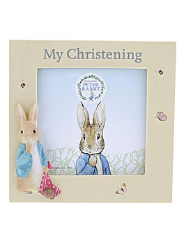 Peter Rabbit Christening Photo Frame