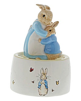 Peter and Mrs Rabbit Ceramic Musical