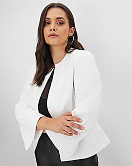 White Edge To Edge Cropped Blazer