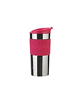 Stainless Steel and Pink Travel Mug