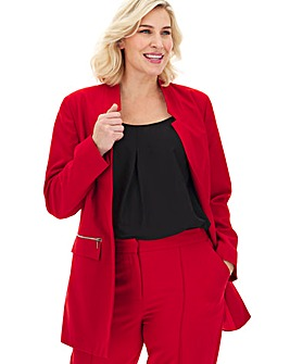 Red Longline Fashion Blazer