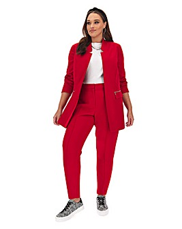 Red Tapered Trousers