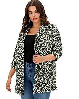 Leopard Print Throw On Blazer