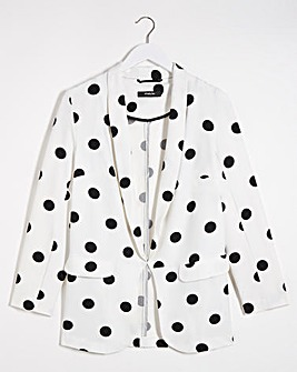 Polka Dot Throw On Blazer