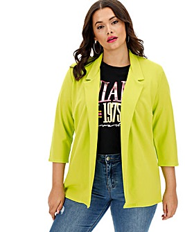 Lime Crepe Throw On Blazer