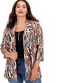 Animal Print Throw On Blazer