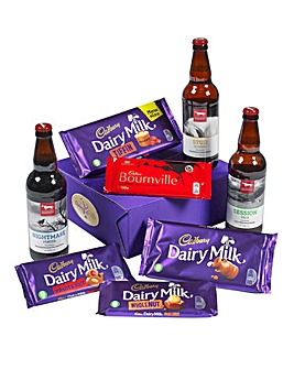 Cadbury Chocolate and Beer Hamper