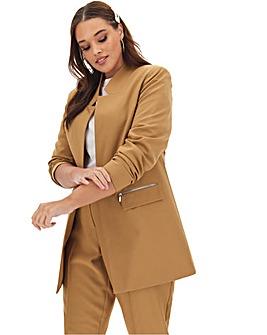 Camel Longline Fashion Blazer