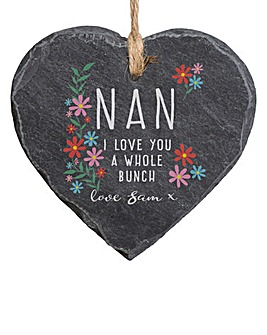 Personalised I Love You Hanging Slate