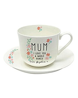 Personalised I Love You Cup And Saucer