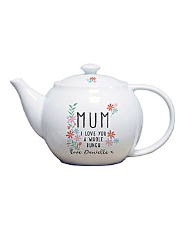 Personalised I Love You Tea Pot