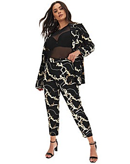 Chain Print Fashion Trouser