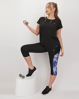 Simply Be Active Marble Print Capri