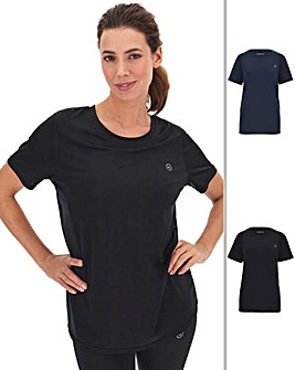Simply Be Active Basic 2 Pack Gym Tee