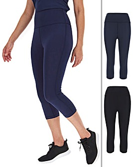 Simply Be Active Basic 2 Pack Gym Capri