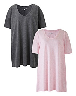 2 Pack V Neck Tunics