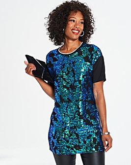 All Over Sequin Front Tunic