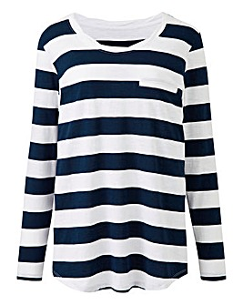 Long Sleeve Block Stripe Top