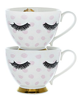 Set of 2 Eyelash Mugs
