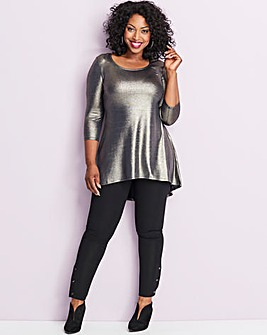 Metallic Dip Back Tunic