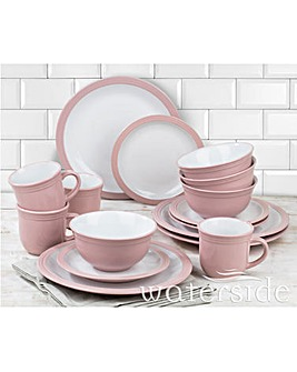 Camden 16 Piece Dinner Set Pink