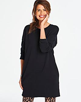 Black Sweatshirt Tunic