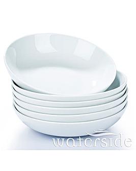 White Pasta Bowls 6 Piece Set
