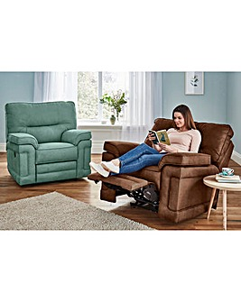 Chenille Luxury Manual Recliner Chair