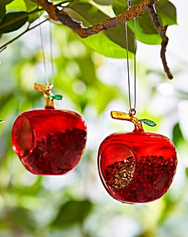 Glass Apple Feeders Pack of 2