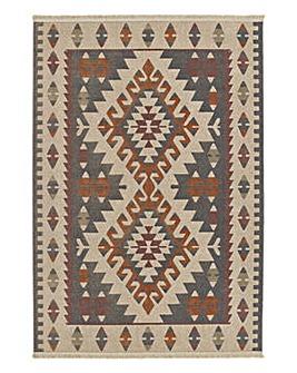 Fringed Kalim Aztec Rug Large
