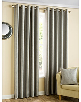Ziggi Metallic Lined Eyelet Curtains