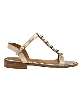 Ravel Kandos Leather Slingback Sandals Wide E Fit