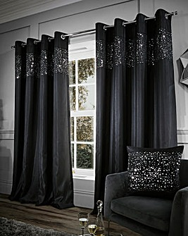 Glitzy Eyelet Curtains