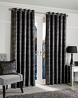 Glimmer Metallic Lined Eyelet Curtains