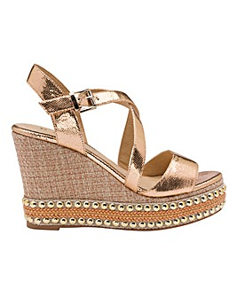 Ravel Hexam Wedge Sandals Standard D Fit