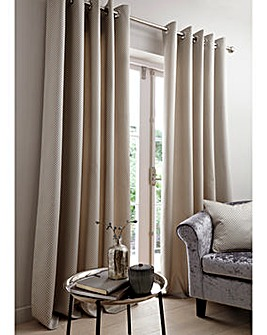 Anya Metallic Jaquard Eyelet Curtains