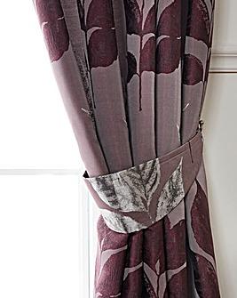 Blakely Leaf Metallic Tie-Backs