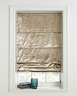 Crushed Velvet Roman Blinds