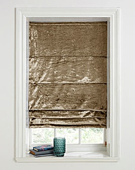 Crushed Velvet Roman Blind