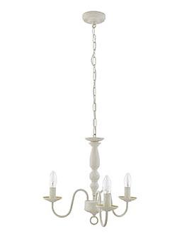 Modern Boudoir 3 Arm Ceiling Light